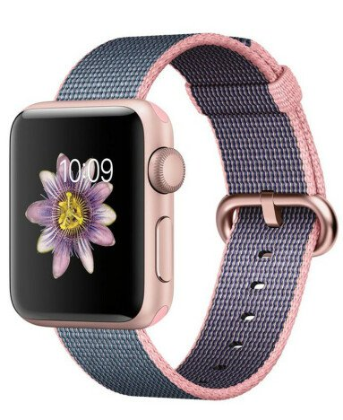 Curea iUni compatibila cu Apple Watch 1/2/3/4/5/6, 42mm, Nylon, Woven Strap, Dark Purple